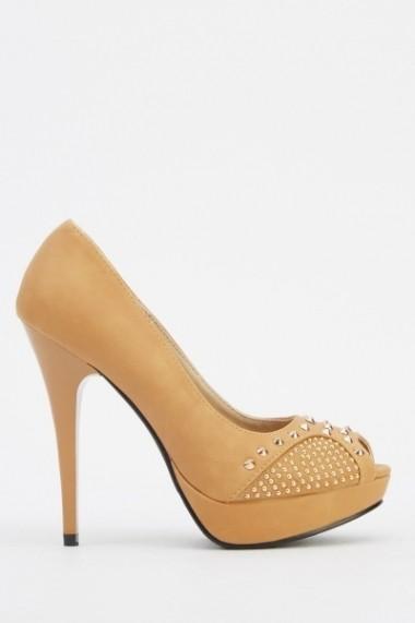 Pantofi cu toc 610269-206227 negru