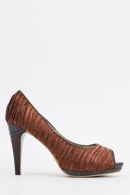 Pantofi cu toc 610405-206628 Maro