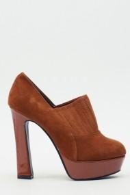 Pantofi cu toc 611003-208081 Maro