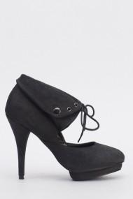 Pantofi cu toc 612409-211232 negru
