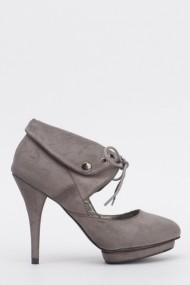 Pantofi cu toc 612409-211234 gri