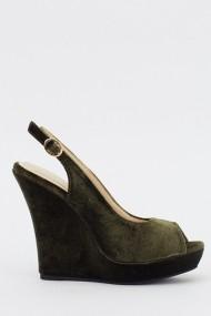 Pantofi cu toc 613288-213162 verde