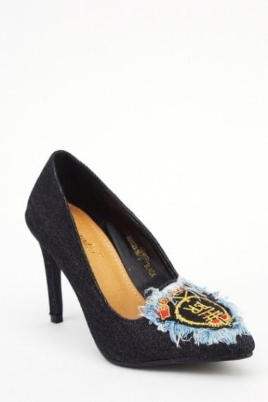 Pantofi cu toc 613780-213938 negru
