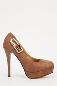 Pantofi cu toc 613999-214270 Kaki