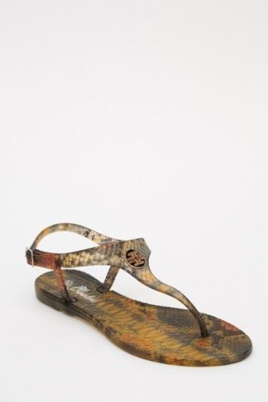 Sandale plate 614330-215041 Mov - els