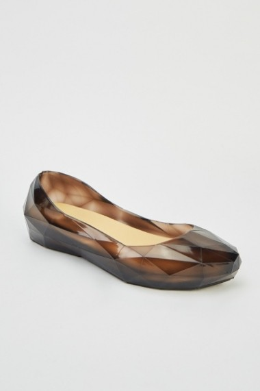 Jelly Transparent Flats 614532-215513 Negru