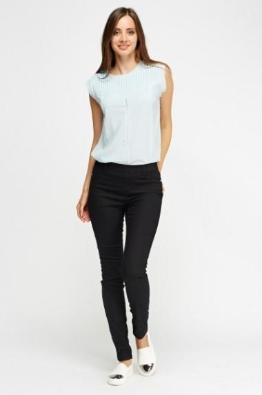 Pantaloni skinny 614849-216168 Negru