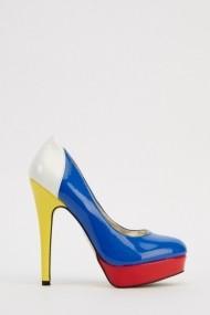 Pantofi cu toc 615434-217412 albastru