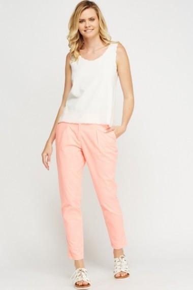 Pantaloni largi 616211-218870 roz