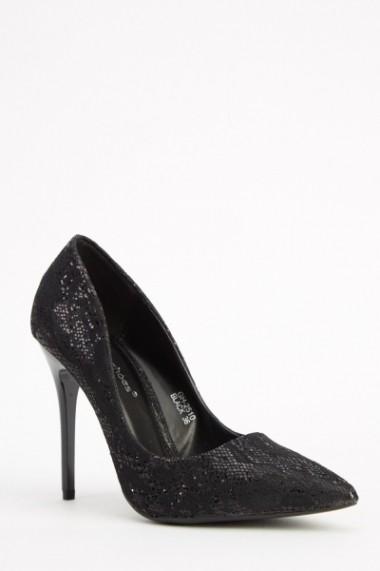 Pantofi cu toc 617309-221042 Negru