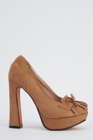 Pantofi cu toc 617736-221894 maro - els