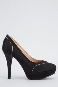 Pantofi cu toc 617742-221902 Negru