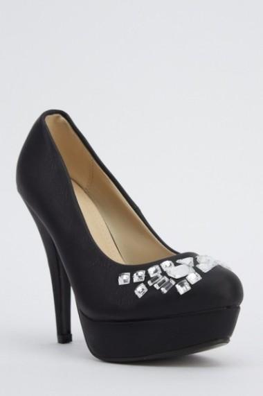 Pantofi cu toc 617761-221936 kaki