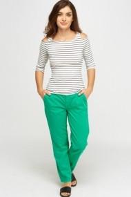 Pantaloni drepti 617948-222307 verde