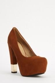 Pantofi cu toc 618121-222702 Maro