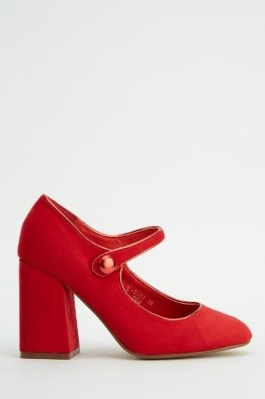 Pantofi cu toc 618259-222991 albastru