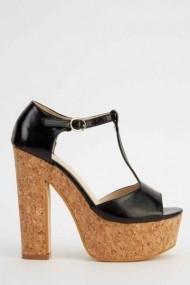 Sandale cu toc 618382-223280 Negru