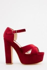 Sandale cu toc 618482-223498 Bordo