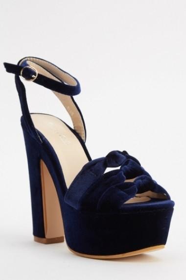 Sandale cu toc 618485-223507 Albastru
