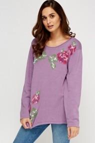 Пуловер eOutlet FVP-618626-223804 Лилав