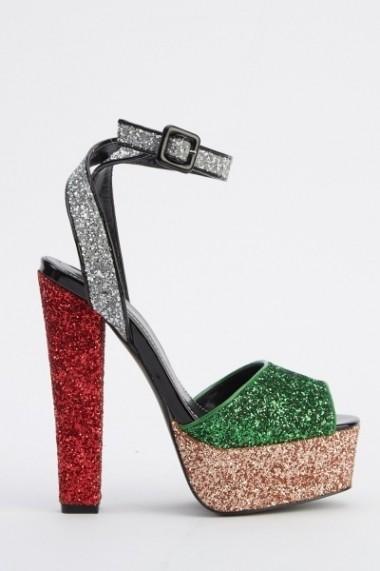 Sandale cu toc 618681-223892 Verde - els