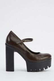 Pantofi cu toc 618790-224070 Maro