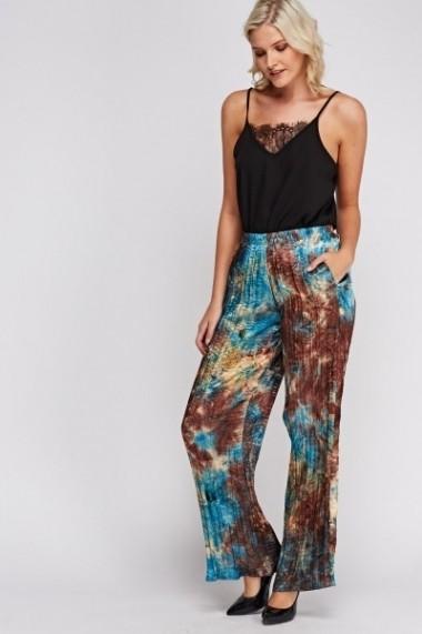Pantaloni largi 619738-225985 Multicolor