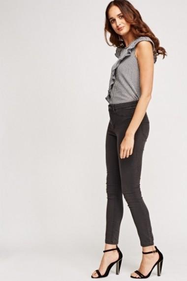 Jeansi skinny 620301-227213 Gri