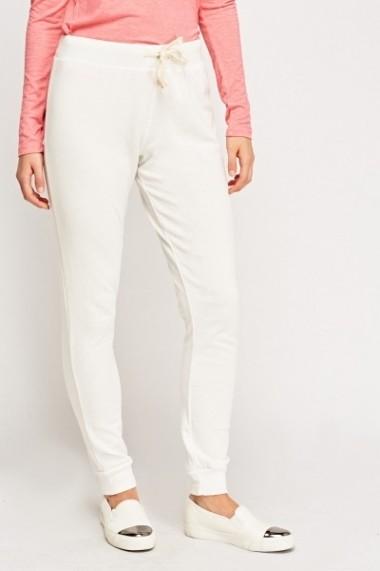 Pantaloni largi 621593-230200 Alb