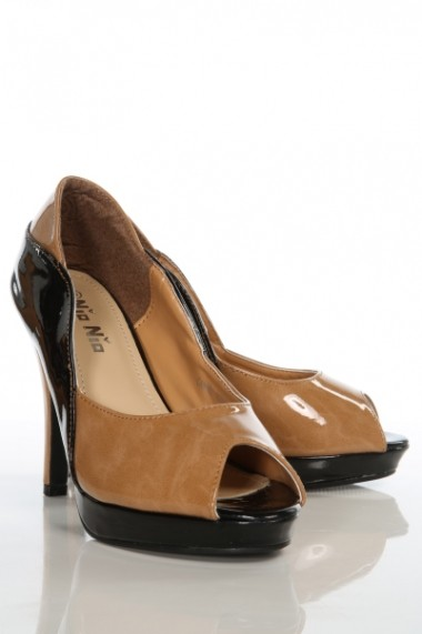 Pantofi cu toc 8384-26120 portocaliu