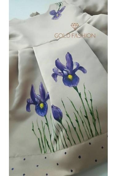 Rochita botez Little Iris pictata manua