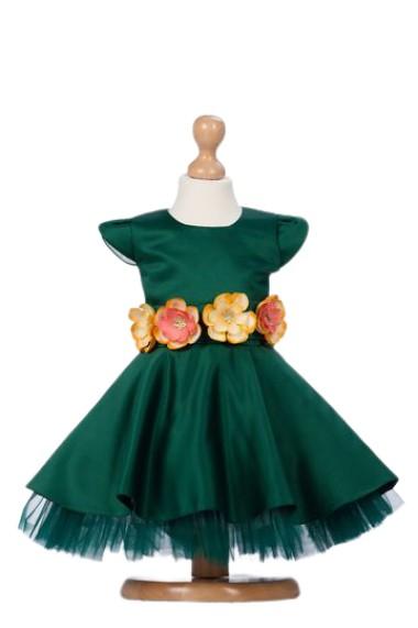 Rochita verde smarald Green Flowers