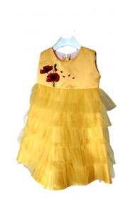 Rochita galbena pictata manual 3-6 ani Special Yellow Dress
