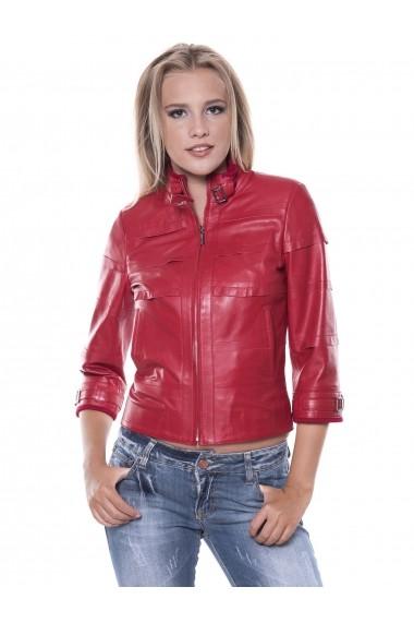Jacheta din piele Giorgio Di Mare GI2264772 Rosu