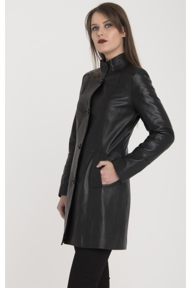 Jacheta din piele Giorgio di Mare GI429875 Negru