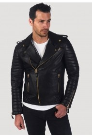 Jacheta din piele Giorgio di Mare GI4464495 Negru