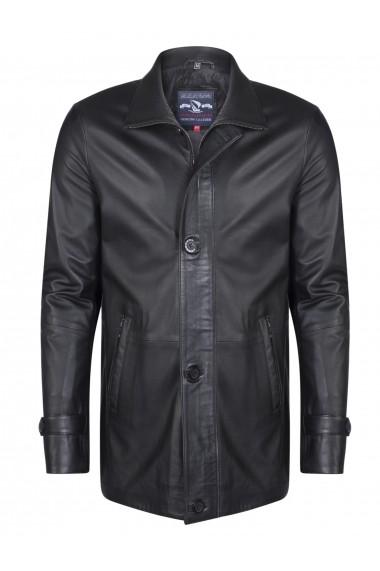 Jacheta din piele Giorgio di Mare GI6384776 Negru