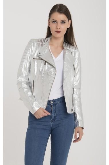 Jacheta din piele Giorgio di Mare GI6784516 Gri