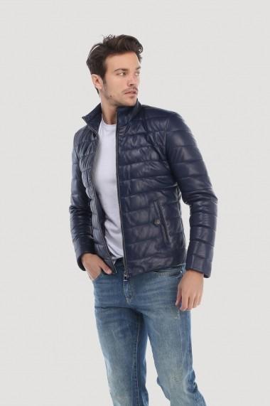 Jacheta din piele Giorgio di Mare GI9915484 Bleumarin - els