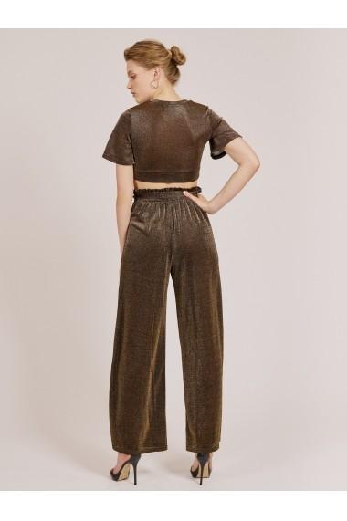 Pantaloni largi Goldie 1-1793-11-1 Auriu