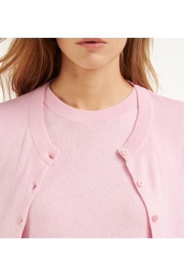 Set pulover si cardigan Rodier GLB-7EV8048-pink Roz