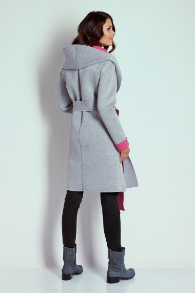 Palton NAOKO GLB-AT16 GREY PINK Gri - els