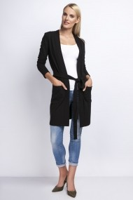 Cardigan NAOKO GLB-AT75 BLACK Negru