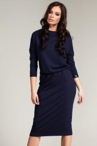 Rochie BeWear B014 navy blue Bleumarin