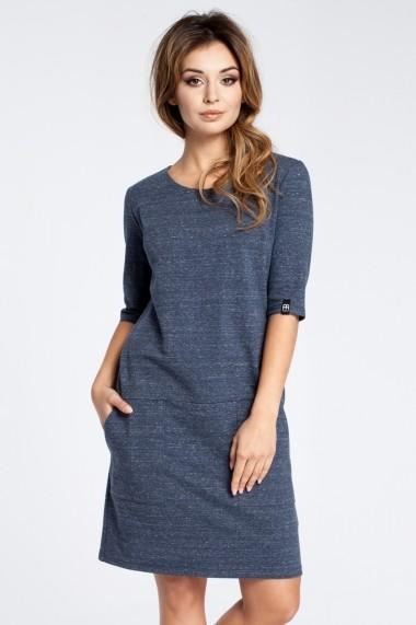 Rochie BeWear B033 navy blue Bleumarin - els