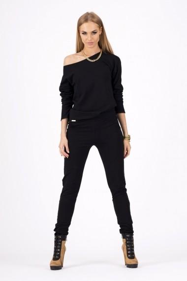 Set bluza si pantaloni Makadamia GLB-m116 black Negru