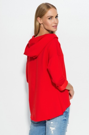 Bluza Makadamia GLB-m324 red Rosu