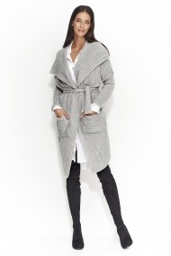 Cardigan Numinou GLB-NU s21 light grey Gri - els