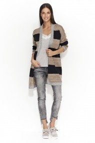 Cardigan Numinou GLB-NU s25 dark grey-black-cappuccino Gri