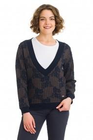 Пуловер Galvanni GLVWW50240111-Dark_Brown-Multi многоцветно